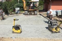 Příprava povrchu pro zámkovou dlažbu