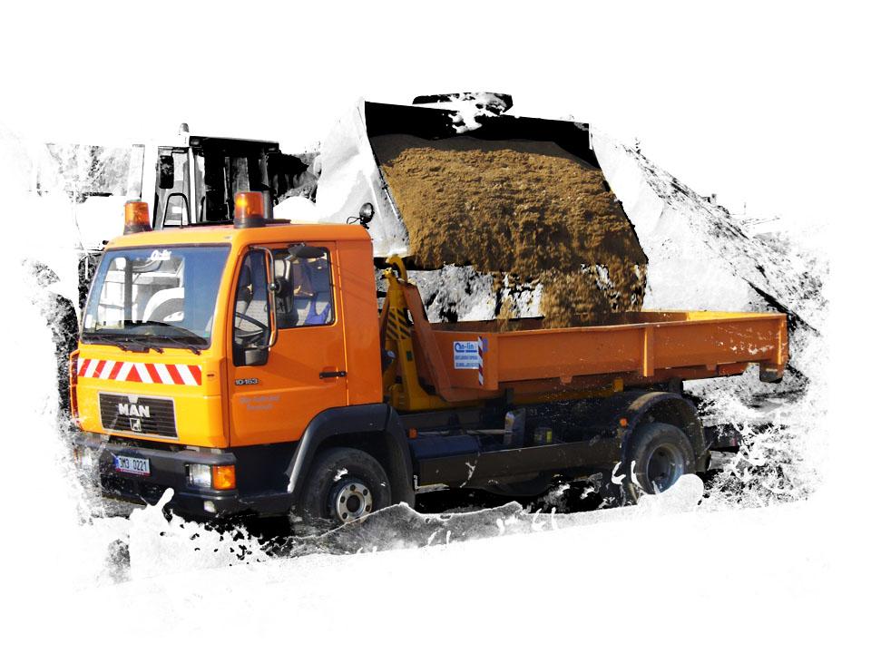 dovoz sypkých materiálů písků a štěrků šternberk