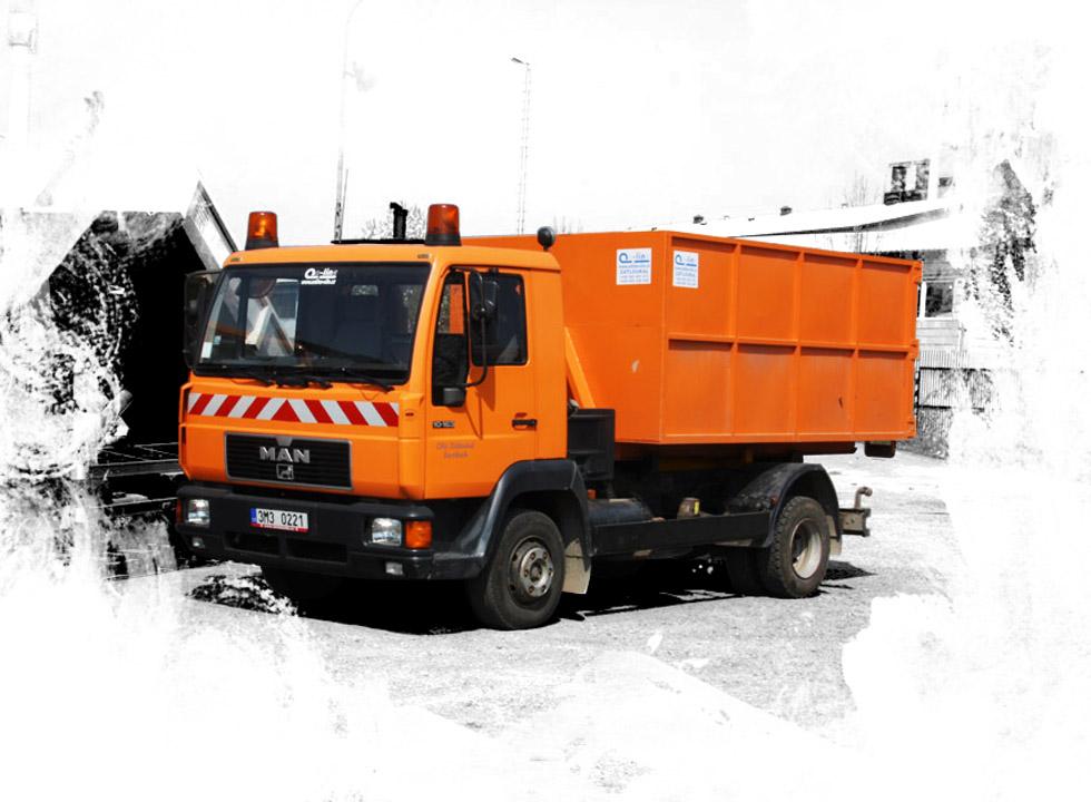 doprava recyklátů na stavbu