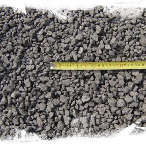 Uhlí ořech 2 detail s pravítkem