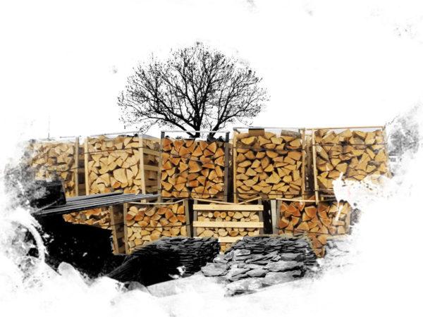 Palivové dřevo v paletách
