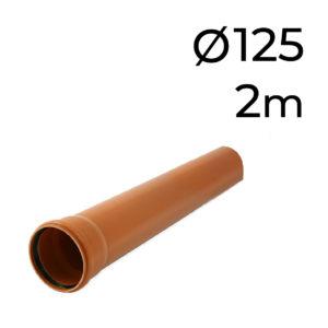 potrubí KG DN 125 *- 2 m