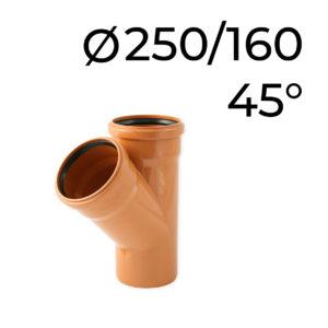 kg odbočka 250-160-45
