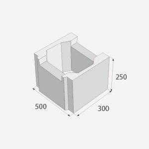 základová tvárnice 50 cm