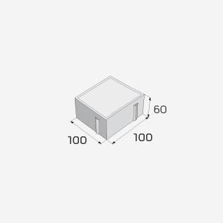 zámková dlažba přírodní 100 x 10 x 60cm