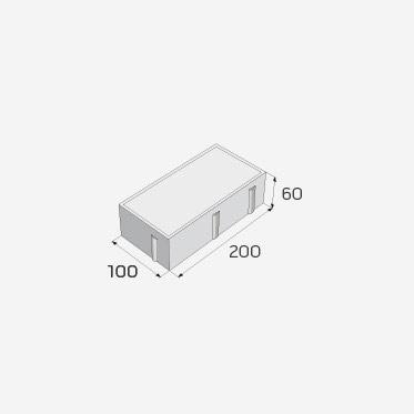 zámková dlažba 100x200x60